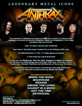 Anthrax Graphic Design Poster
