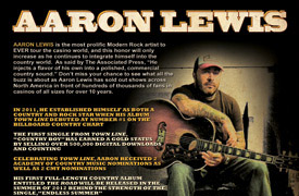 Aaron Lewis Graphic Design Poster