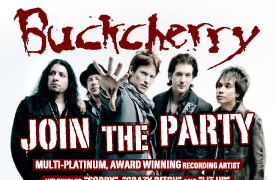 Buckcherry Graphic Design Poster