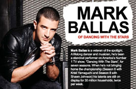 Mark Ballas Graphic Design Poster