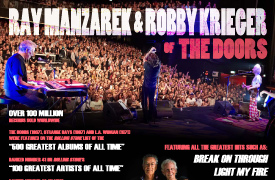 Ray Manzarek & Robby Krieger of The Doors Graphic Design Poste
