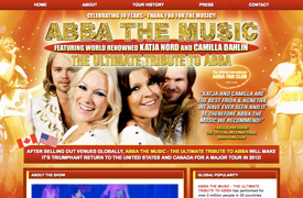 ABBA THE MUSIC Web Design and development