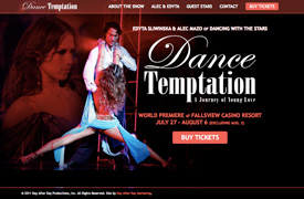 Dance Temptation Web Design and development