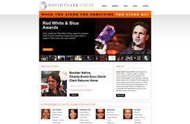 David Clark Cause Web Design and development