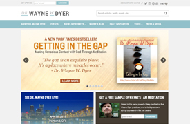 Dr. Wayne Dyer Web Design and development