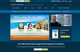 Gregg Braden Web Design and development