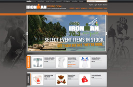 Ironman Triathlon  Web Design, development and E-commerce backend