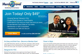 MemberTravel Web Design and development and Pay per click advertising