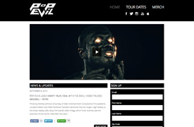 Pop Evil Custom wordpress theme