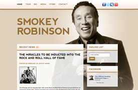 Smokey Robinson Web Design and development