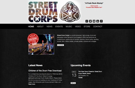Street Drum Corps Web Design and development