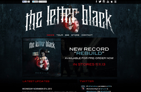 The Letter Black Web Design and development Custom Wordpress Theme